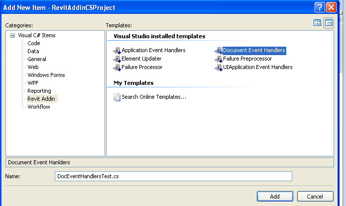 Manage document events of Revit API with C# - Part 3