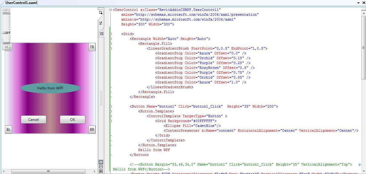 wpf and revit addin api make wpf window and button fancy