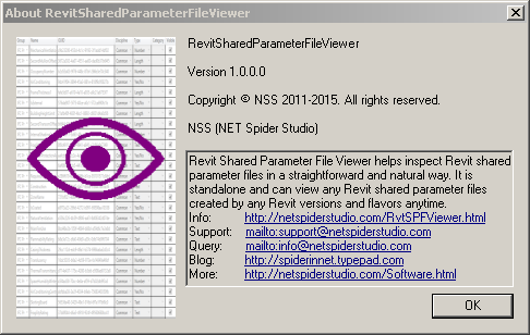 About the New Revit Shared Parameter File Viewer (RvtSPFViewer exe