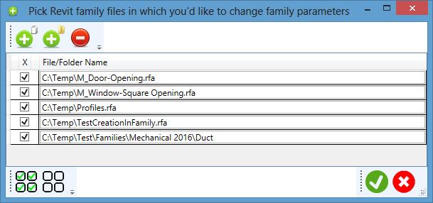 Revit Family Organizer: Batch Changer of Family Parameters