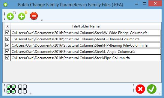 Revit Parameter Organizer 2018: Family Parameters - Inspectors